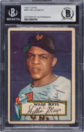 Baseball Cards:Autographs, Signed 1952 Topps Willie Mays #261 BAS Auto Authentic....