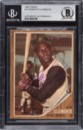 Baseball Cards:Autographs, Signed 1962 Topps Roberto Clemente #10 BAS Auto Authentic....