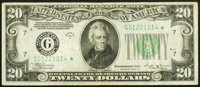 Fr. 2056-G* $20 1934B Federal Reserve Star Note. Very Fine