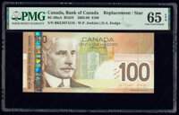 Canada Bank of Canada $100 2003-09 Pick 105d BC-66bA Replacement PMG Gem Uncirculated 65 EPQ