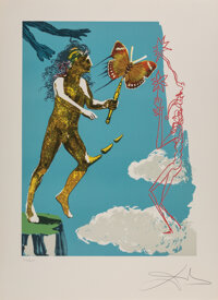 Salvador Dali (1904-1989) Madam butterfly & the dream (two works), 1978 Lithographs in colors on Arches paper 29-1/2...