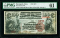 National Bank Notes:Iowa, Davenport, IA - $100 1882 Brown Back Fr. 522 The Citizens National Bank Ch. # 1671 PMG Uncirculated 61.. ...