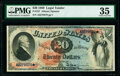 Large Size:Legal Tender Notes, Fr. 127 $20 1869 Legal Tender PMG Choice Very Fine 35....