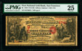 National Bank Notes:California, San Francisco, CA - $5 1870 Fr. 1136 The First National Gold Bank Ch. # 1741 PMG Very Fine 25.