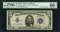 Small Size:Silver Certificates, Fr. 1651 $5 1934A Silver Certificate. PMG Gem Uncirculated...