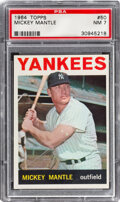 Baseball Cards:Singles (1960-1969), 1964 Topps Mickey Mantle #50 PSA NM 7. Offered is ...