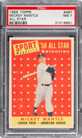 Baseball Cards:Singles (1960-1969), 1958 Topps Mickey Mantle #487 PSA NM 7. The 1958 T...