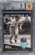 """Autographs:Sports Cards, Signed 1994 Upper Deck """"All-Time Heroes"""" Mickey Mantle #10..."""