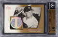 Baseball Cards:Singles (1970-Now), 2003 UD Authentics Threads Of Time Mickey Mantle (Gold) #T...