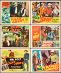 """Movie Posters:Western, Guns of Hate & Other Lot (RKO, 1948). Very Fine. Title Lobby Card & Lobby Cards (5) (11"""" X 14""""). Western.. ... (Total: 6 Items)"""
