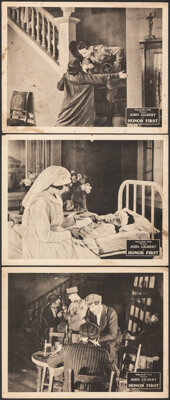 """Honor First (Fox, 1922). Fine. Lobby Cards (3) (11"""" X 14""""). Drama. ... (Total: 3 Items)"""
