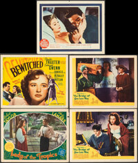 """Lady of the Tropics & Other Lot (MGM, 1939). Very Fine-. Lobby Cards (4) & Title Lobby Card (11"""" X 14""""..."""