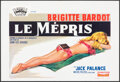 """Movie Posters:Foreign, Le Mepris (Royal Films, 1963). Folded, Very Fine. Belgian (14.5"""" X 21.25""""). Foreign.. ..."""