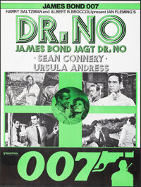 """Dr. No (United Artists, R-1970s). Folded, Very Fine. Swiss Poster (20.5"""" X 31.5"""") Mitchell Hooks Artwork. Jame..."""