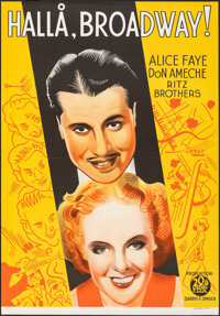 """You Can't Have Everything (20th Century Fox, 1938). Folded, Very Fine+. Swedish One Sheet (27.5"""" X 39.75"""") Eri..."""