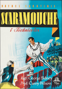 """Scaramouche (MGM, 1952). Rolled, Very Fine+. Full-Bleed Swedish One Sheet (27"""" X 39.25""""). Swashbuckler"""