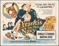 """Movie Posters:Comedy, Francis in the Navy (Universal International, 1955). Folded, Fine/Very Fine. Half Sheet (22"""" X 28"""") Style A. Comedy.. ..."""