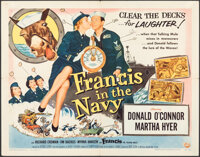 """Francis in the Navy (Universal International, 1955). Folded, Fine/Very Fine. Half Sheet (22"""" X 28"""") Style A. C..."""