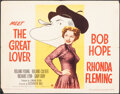 """Movie Posters:Comedy, The Great Lover (Paramount, 1949). Folded, Fine/Very Fine. Half Sheet (22"""" X 28"""") Style B, Al Hirschfeld Artwork. Comedy.. ..."""