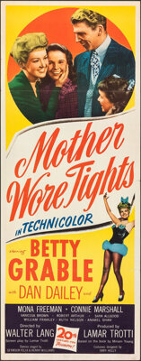 """Mother Wore Tights (20th Century Fox, 1947). Folded, Very Fine. Insert (14"""" X 36""""). Musical"""