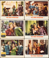 """The Three Musketeers (MGM, 1948/R-1956). Very Fine-. Lobby Cards (6) (11"""" X 14""""). Swashbuckler. ... (Total: 6..."""
