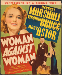 """Woman Against Woman (MGM, 1938). Very Good/Fine. Trimmed Window Card (14"""" X 17""""). Comedy"""