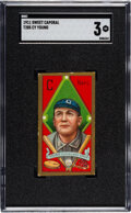 Baseball Cards:Singles (Pre-1930), 1911 T205 Sweet Caporal Cy Young SGC VG 3....