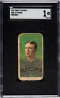 Baseball Cards:Singles (Pre-1930), 1909-11 T206 Sweet Caporal 150/30 Cy Young (Portrait) SGC Poor 1....