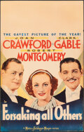 """Movie Posters:Comedy, Forsaking All Others (MGM, 1934). Fine/Very Fine . Window Card (14"""" X 22""""). Comedy.. ..."""