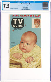 TV Guide V1#1 Chicago Edition (TV Guide Magazine Group, Inc., 1953) CGC VF- 7.5 Off-white to white pages