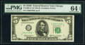 Small Size:Federal Reserve Notes, Fr. 1966-G* $5 1950E Federal Reserve Note. PMG Choice Unci...