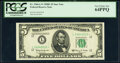 Small Size:Federal Reserve Notes, Fr. 1966-L* $5 1950E Federal Reserve Star Note. PCGS Very Choice New 64PPQ.. ...