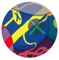 Prints & Multiples, KAWS (b. 1974). Untitled from The News, 2017. Screenprint in colors on wove paper. 24 inches (61 cm) diameter (sheet...