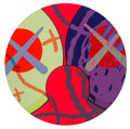 Prints & Multiples, KAWS (b. 1974). Untitled from The News, 2018. Screenprint in colors on wove paper. 24 inches (61 cm) diameter (sheet...