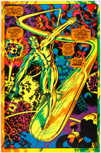 """Marvel Psychedelic Black Light Poster #4005 Silver Surfer """"At Last I'm Free"""" (The Third Eye, 1971)"""