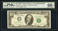 Small Size:Federal Reserve Notes, Fr. 2029-C* $10 1990 Federal Reserve Star Note. PMG Gem Un...