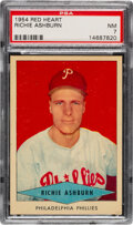 Baseball Cards:Singles (1950-1959), 1954 Red Heart Richie Ashburn PSA NM 7. Offered is...