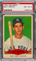 Baseball Cards:Singles (1950-1959), 1954 Red Heart Billy Martin PSA NM-MT 8. Offered i...