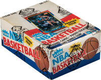 1986 Fleer Basketball Wax Box with 36 Unopened Packs as Issued by Fleer!