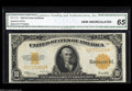 Large Size:Gold Certificates, Fr. 1173 $10 1922 Gold Certificate CGA Gem New 65. This is ...