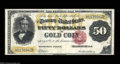 Large Size:Gold Certificates, Fr. 1197 $50 1882 Gold Certificate Very Fine-Extremely Fine.