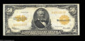 Large Size:Gold Certificates, Fr. 1200 $50 1922 Gold Certificate Fine-Very Fine. ...