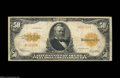 Large Size:Gold Certificates, 1922 $50 Small Serial Number Gold Certificate, Fr-1200a, Fine+....