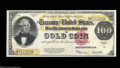 Large Size:Gold Certificates, Fr. 1215 $100 1922 Gold Certificate Very Choice New. A ...