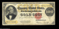 Large Size:Gold Certificates, Fr. 1215 $100 1922 Gold Certificate Fine. Ideal colors on ...