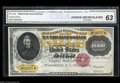 Large Size:Gold Certificates, Fr. 1225 $10,000 1900 Gold Certificate CGA Choice New 63. ...