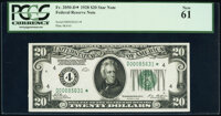 Fr. 2050-D* $20 1928 Federal Reserve Star Note. PCGS New 61