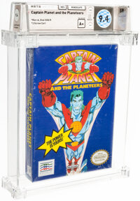 Captain Planet and the Planeteers - Wata 9.4 A+ Sealed, NES Mindscape 1991 USA