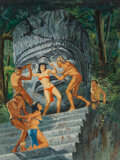 Pulp, Pulp-like, Digests and Paperback Art, Victor Prezio (American, 1924-1976). Jungle Rites, True Adventures magazine cover, October 1961. Gouache on board. 25-1/...