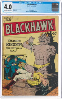 Blackhawk #20 (Quality, 1948) CGC VG 4.0 Off-white to white pages